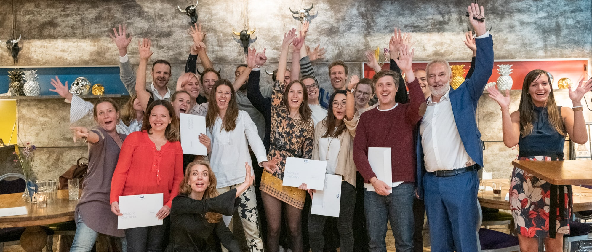 Titelbild Zertifikationsfeier CAS Brand Leadership 2019