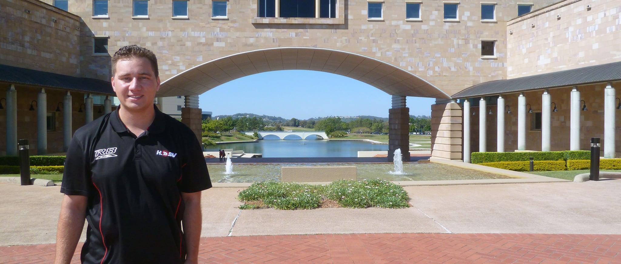 Mitchell Dettwyler an der Bond University in Australien