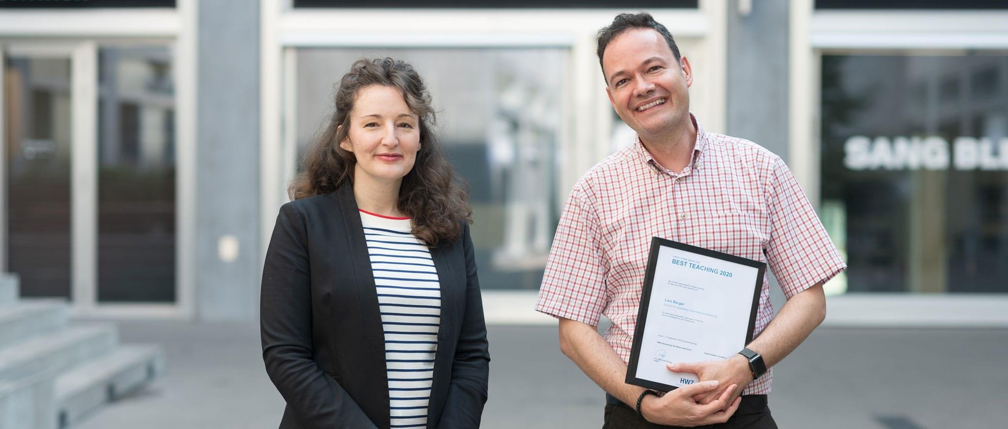 Lars Berger, Best Teacher Award 2020