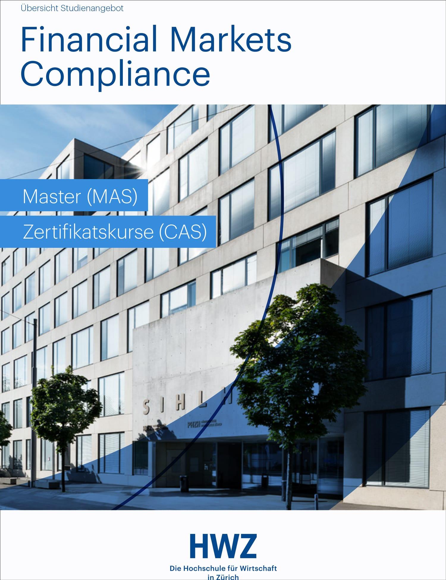 titelbild broschüre Financial Markets Compliance