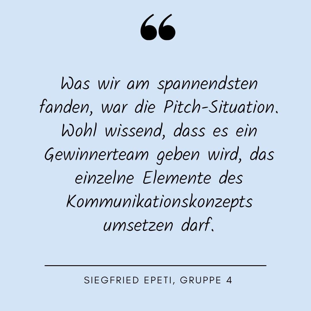 Siegfried Epeti, Quote