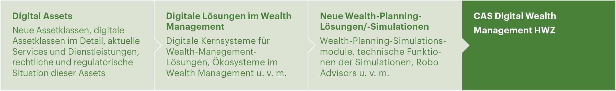 Modulaufbau CAS Digital Wealth Management HWZ