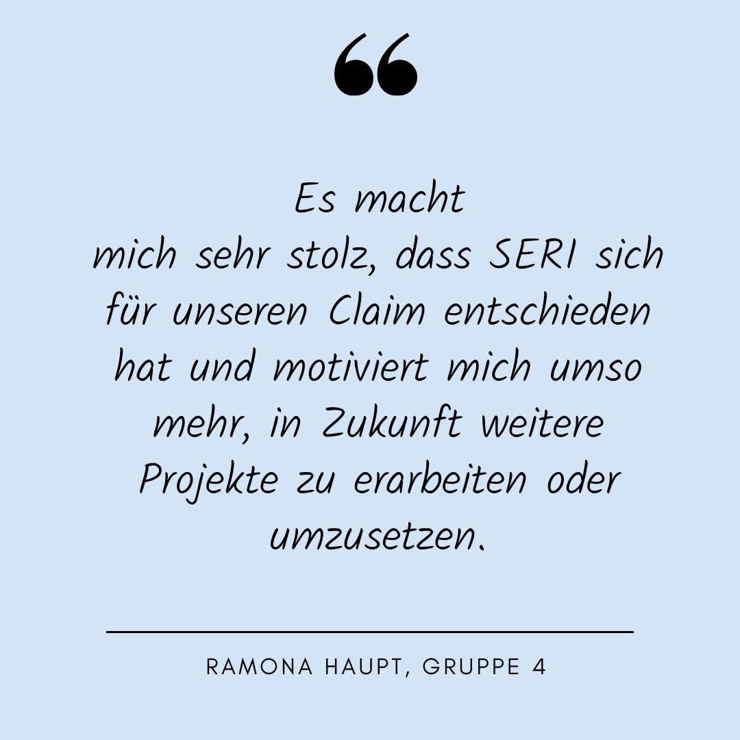 Ramona Haupt, Quote