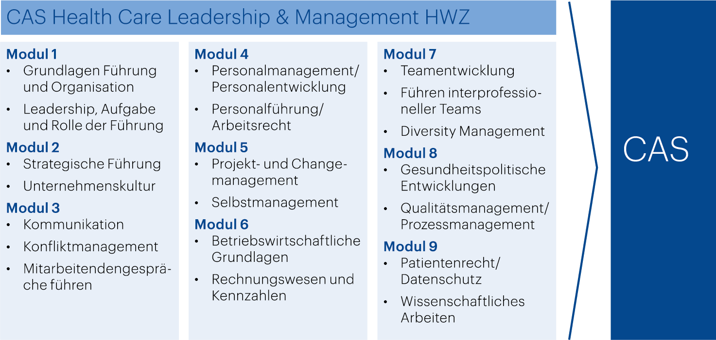HWZ Health Care Leadership & Management Modell