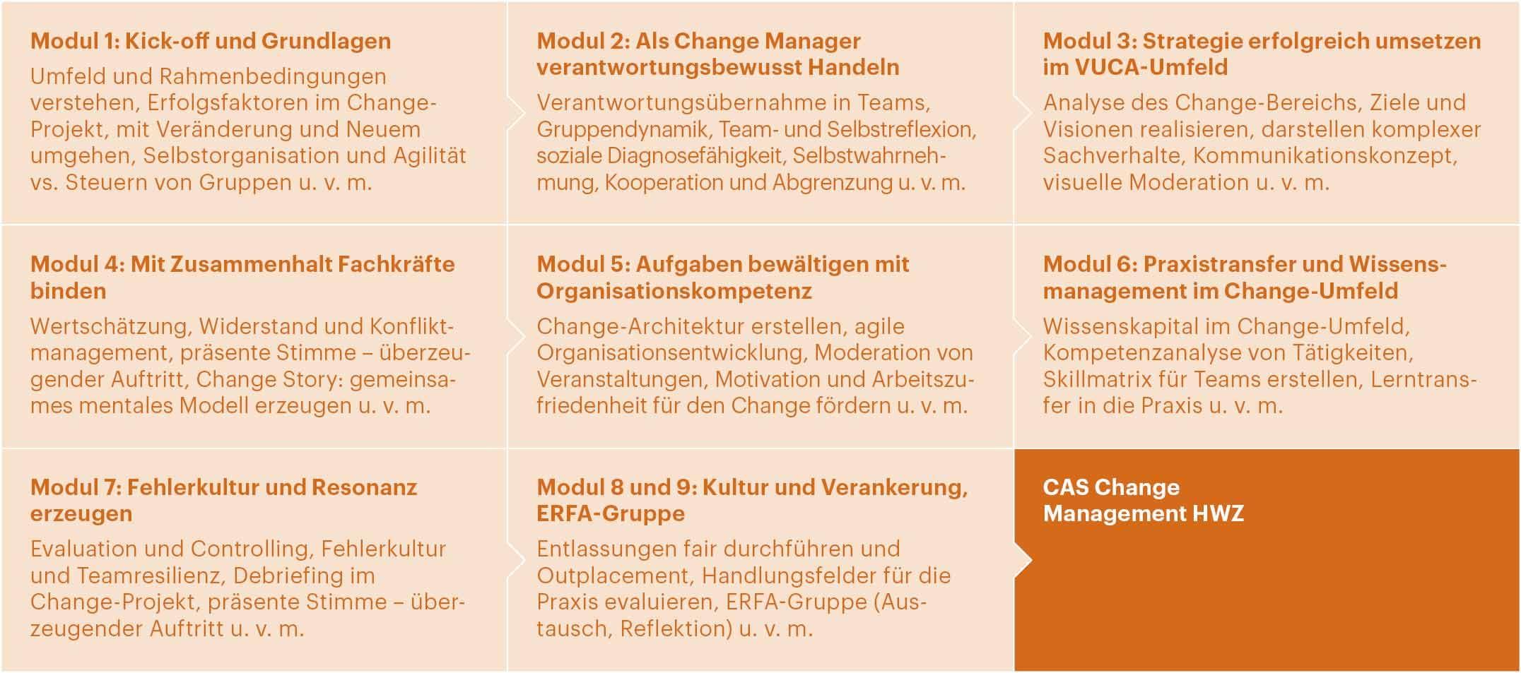 Aufbau CAS Change Management HWZ