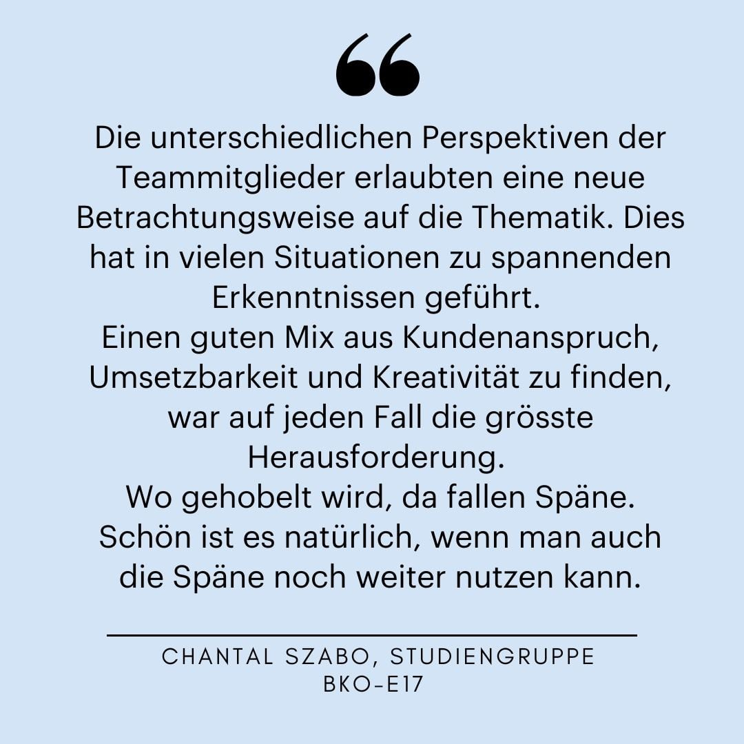 Chantal Szabo, Zitat BBC