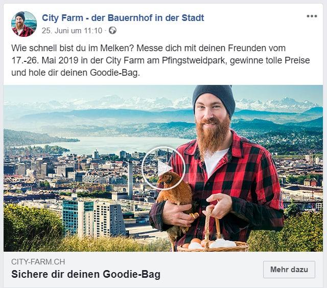 SChweizer Bauernverband Crossmediales Konzept Facebook