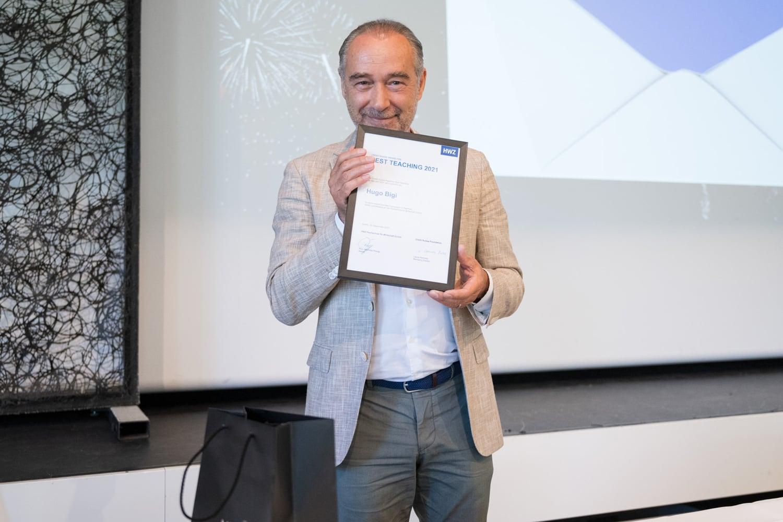 Hugo Bigi erhielt den Award for Best Teaching 2021.