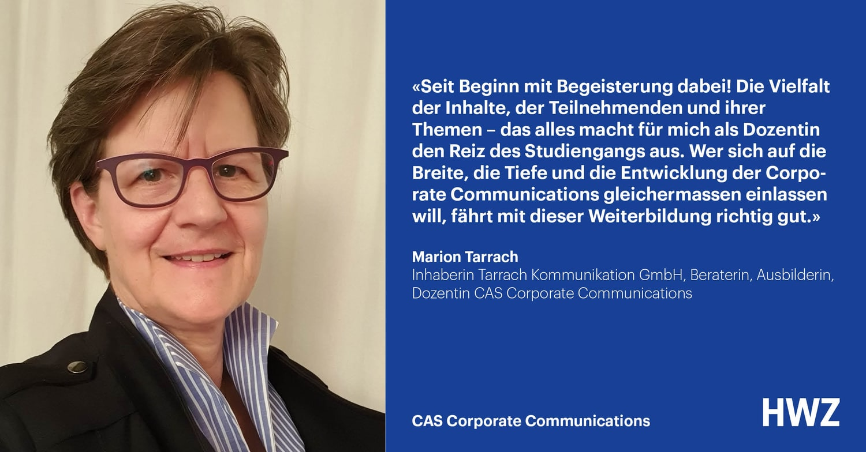 Marion Tarrach, Dozentin CAS Corporate Communications HWZ