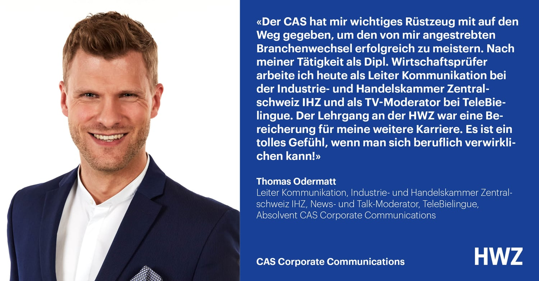Thomas Odermatt, Absolvent CAS Corporate Communications HWZ