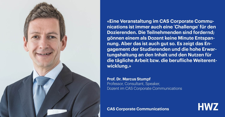 Prof. Dr. Marcus Stumpf, Dozent CAS Corporate Communications HWZ