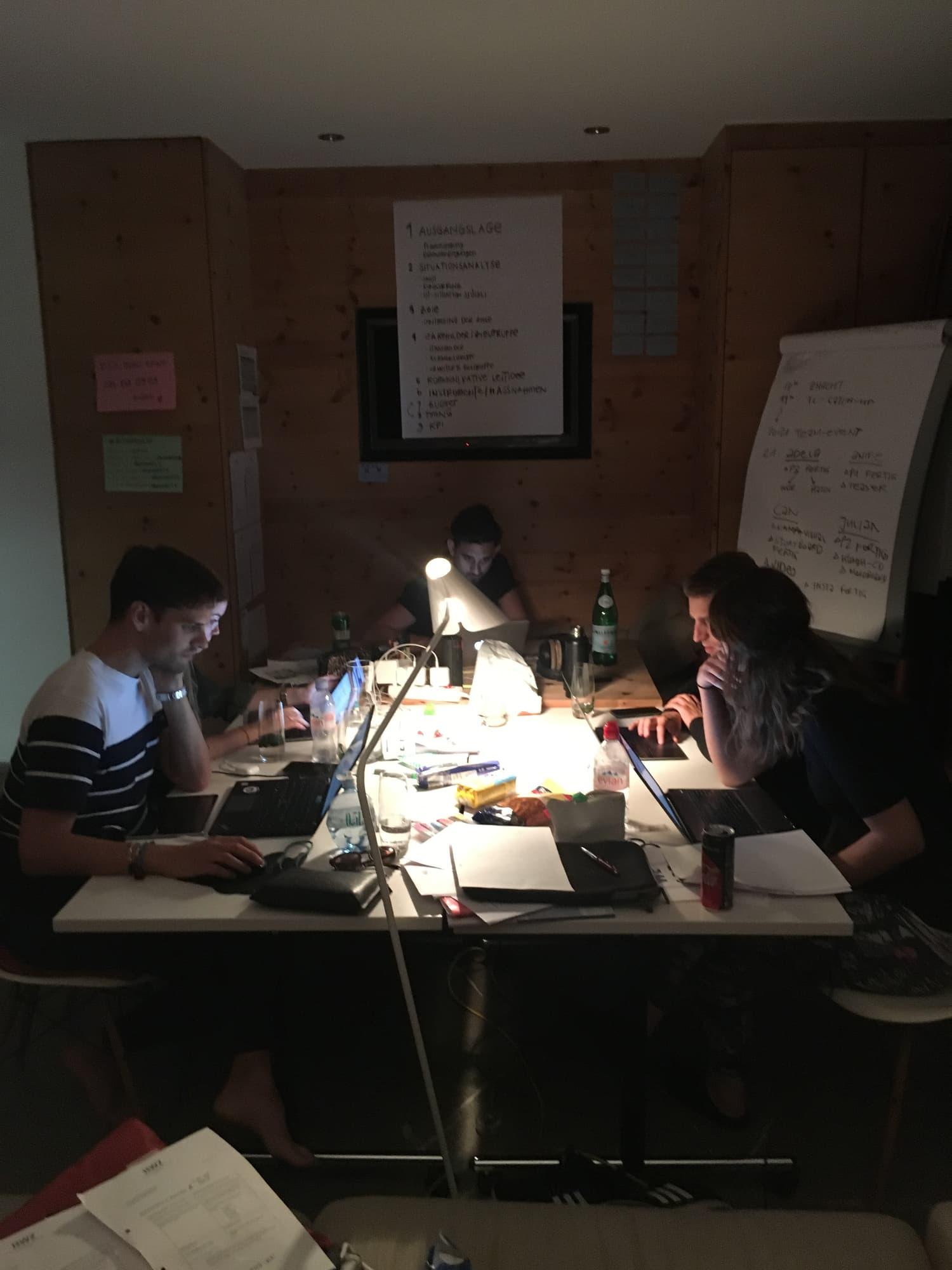 Nachtschicht Projektmanagementseminar Scuol