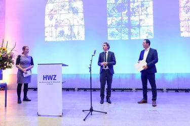 Andrea Gäumann, Patrick Bernhard und Andreas Tinner