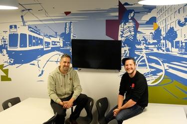 Das Künstler-Duo «mzwei»: Malik und Claude