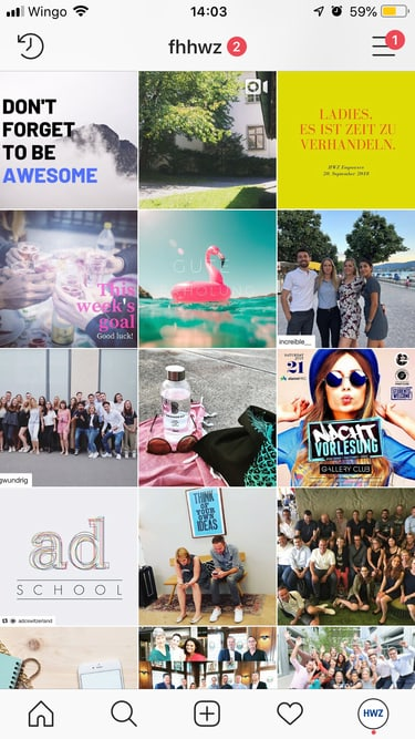 Instagram-Kanal HWZ