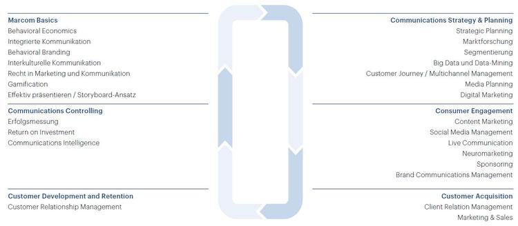 Grafik Aufbau und Inhalt CAS Marketing Communications