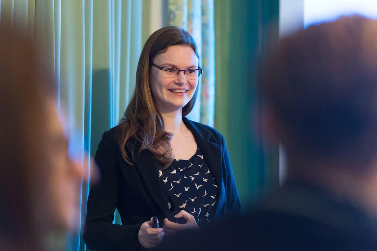 Gastrednerin Philomena Schwab, die von Forbes zu den «30 besten unter 30 Jahren» gewählt wurde