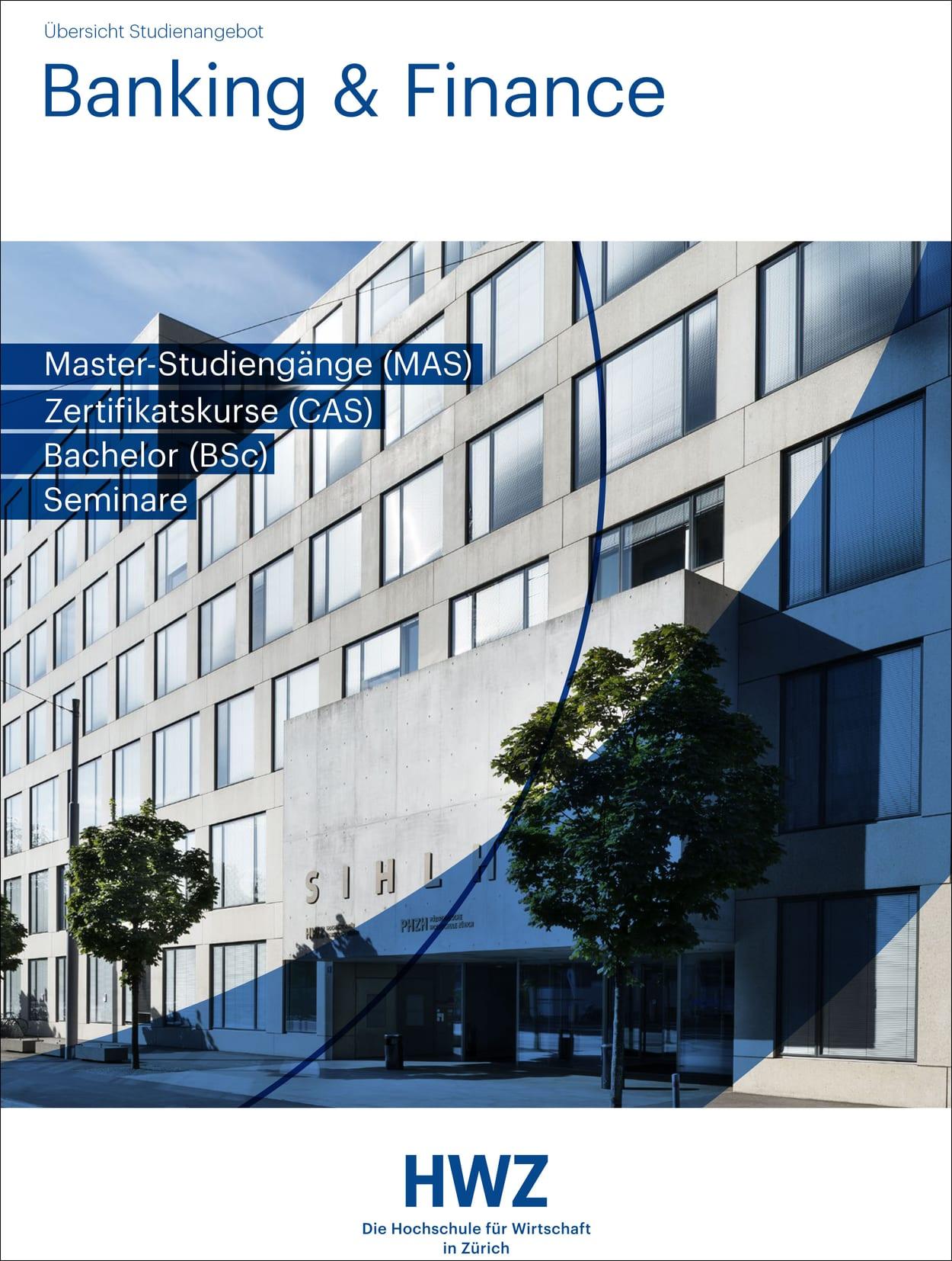 Titelbild Broschüre Banking & Finance