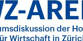 Logo der HWZ-Arena. Die Podiumsdiskussion der Hochschule für Wirtschaft in Zürich