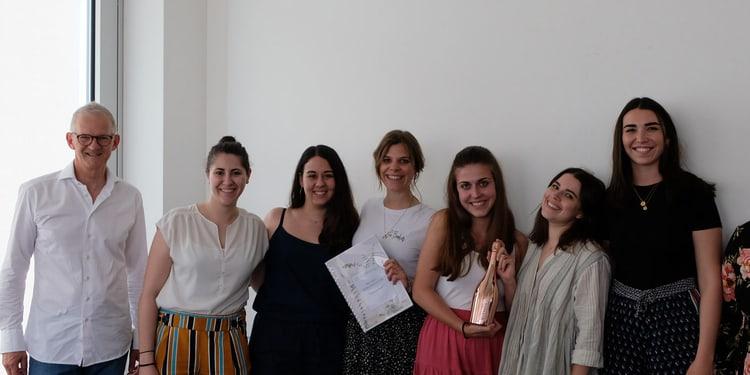 Beitragsbild: Seminarleiter Vogler, Team Gedankengut, Auftraggeberin Tanya Barlogis, Leiterin Marcom E-Mobilität bei Energie360